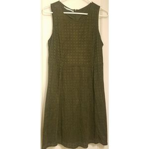 Maurices Faux Suede Olive Green Cut Out Dress